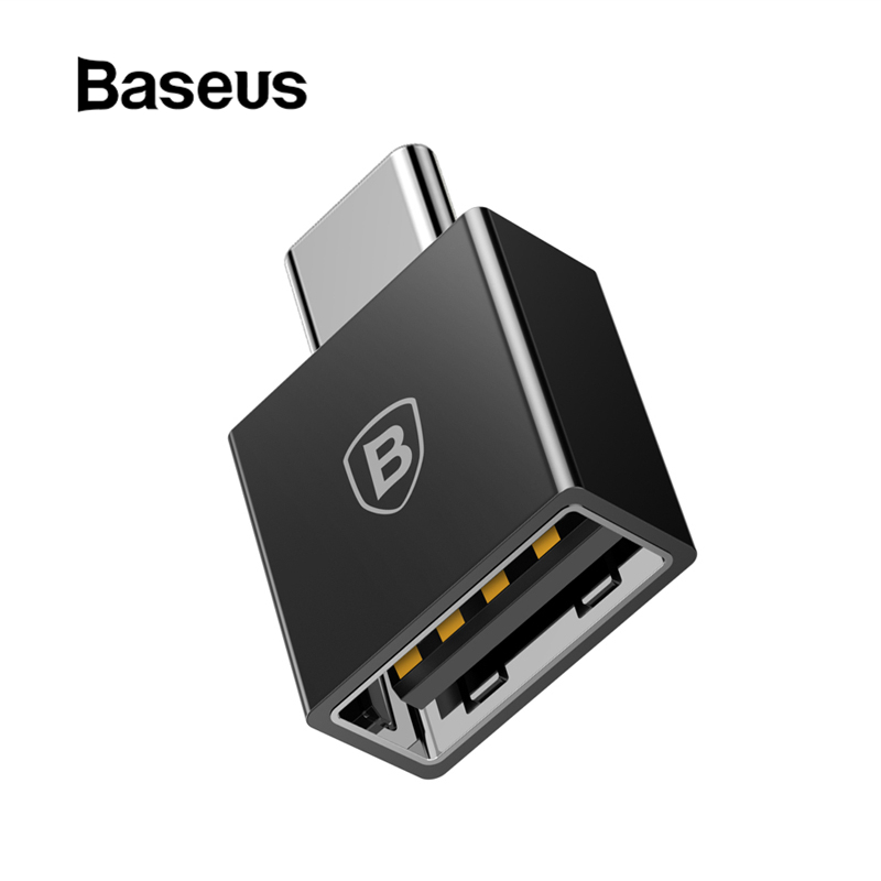 Baseus TYPE C mâle vers USB femelle câble adaptateur convertisseur pour USB C vers USB (mâle vers femelle) chargeur prise OTG adaptateur convertisseur