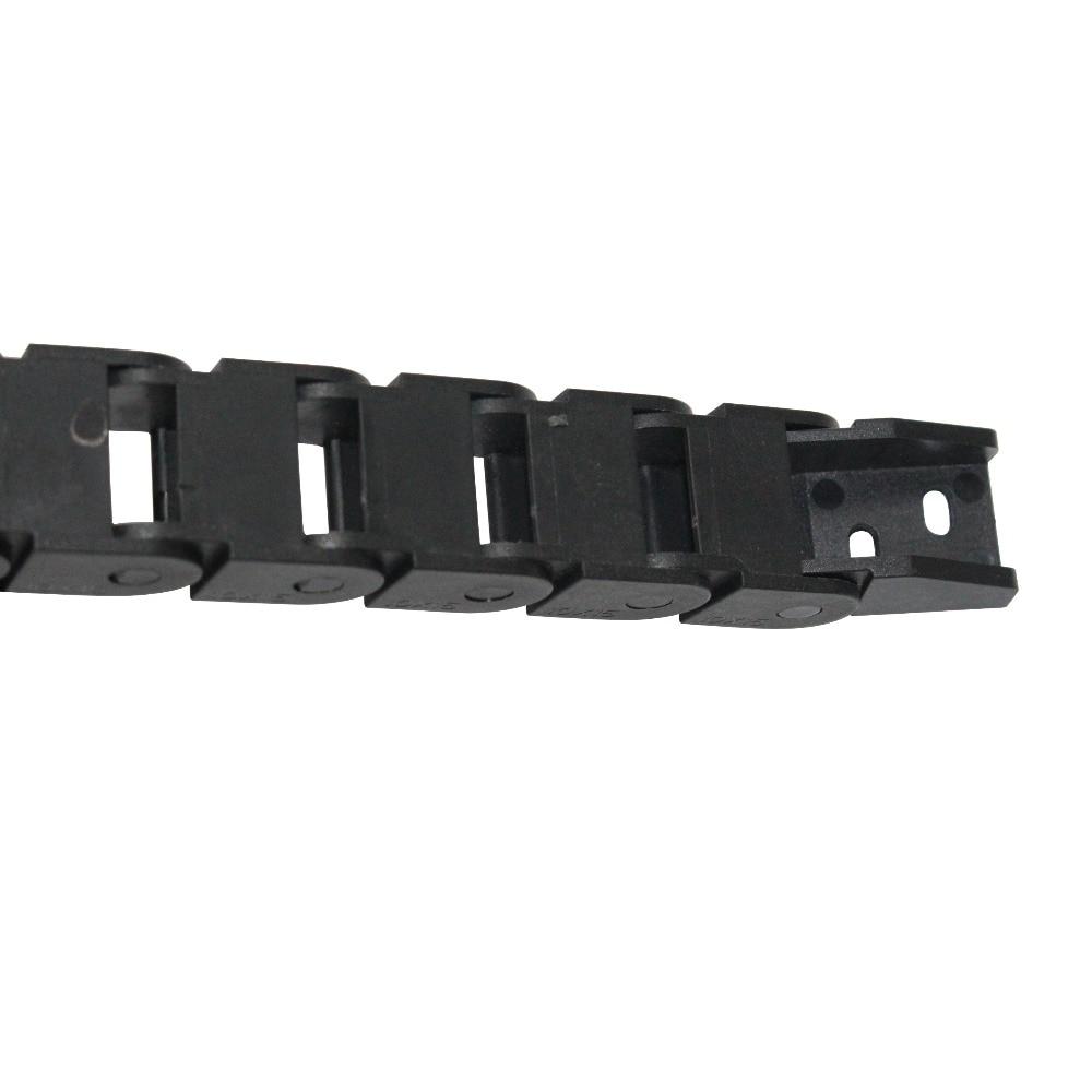 Porte-fil de chaîne de transport de câbles | 10x20mm 10*20mm L1000mm avec connecteurs d'extrémité pour routeur de câbles, machines-outils