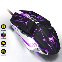 Pro Gaming Mouse 3200DPI LED Balcklit Optical USB Wired Computer Mouse Game Mice Gamer Mouse Ergonomic Mause For Laptop PC optical gaming mouse professional 3200dpi adjustable 6 buttons 6d pro pc computer mice usb wired led light mouse gamer black