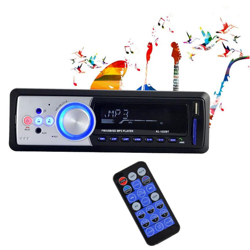 Good Sale Bluetooth Car Stereo Audio In-Dash FM Aux Input Receiver SD USB MP3 Radio Aug 8 car usb sd aux adapter digital music changer mp3 converter for skoda octavia 2007 2011 fits select oem radios