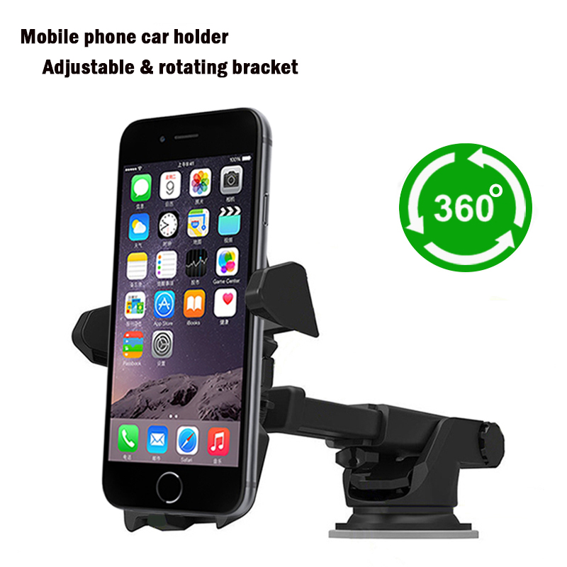 <font><b>Car</b></font> Phone <font><b>Holder</b></font> <font><b>Windshield</b></font> <font><b>Mount</b></font> Bracket <font><b>Suction</b></font> <font><b>Cup</b></font> <font><b>for</b></font> Phone <font><b>for</b></font> samsung s6 s7 edge <font><b>for</b></font> <font><b>iphone</b></font> 5se 6s plus Apply to 3-6.5inch