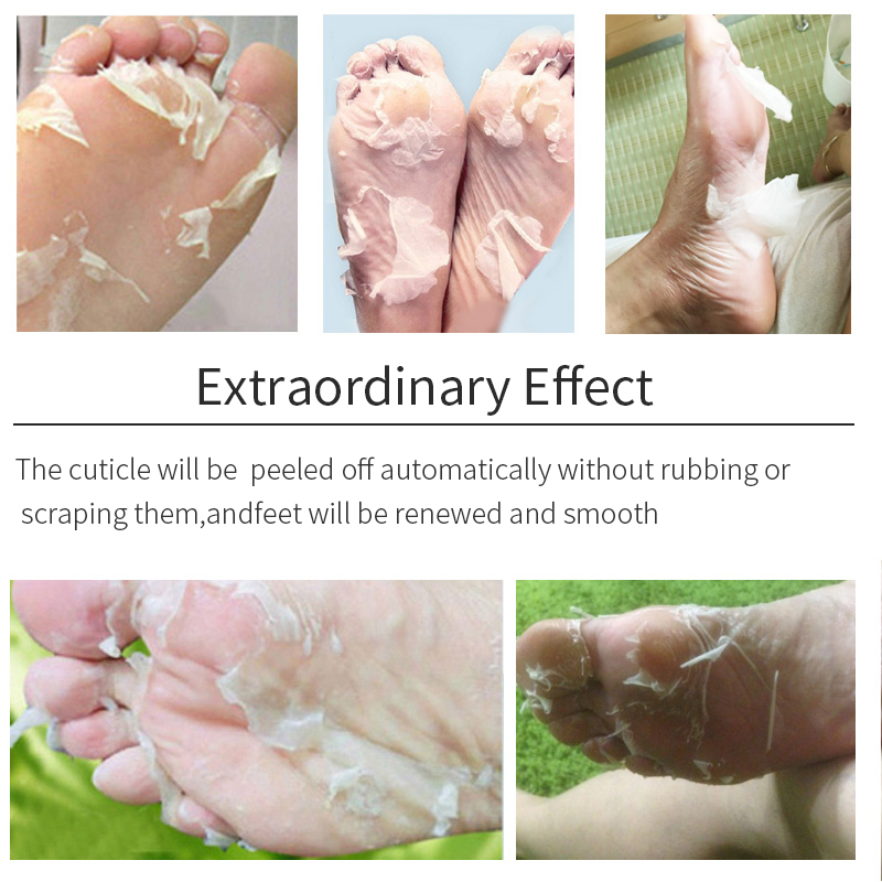 6Pair/Set EFERO Foot Mask for Legs Pedicure Dead Skin Remove Whitening Exfoliating Mild Baby Feet Masks Heels Skin Care Socks
