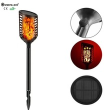 New Solar Flickering Flames Torches LED Lamp With 3-Mode Outdoor solar Rechargeable lights tiki Landscape Decoration Dusk Light