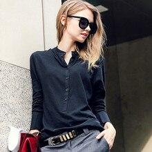 polo femme Long Sleeve Women Polo Shirt womens polos shirts cotton  korean women poloshirt polos women solid  plain tops