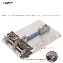 UANME Logic Board NAND Chip Clamps For Motherboard Fixture PCB Holder For iPhone Repair tool with Fingerprint Cover Opening Tool цена в Москве и Питере