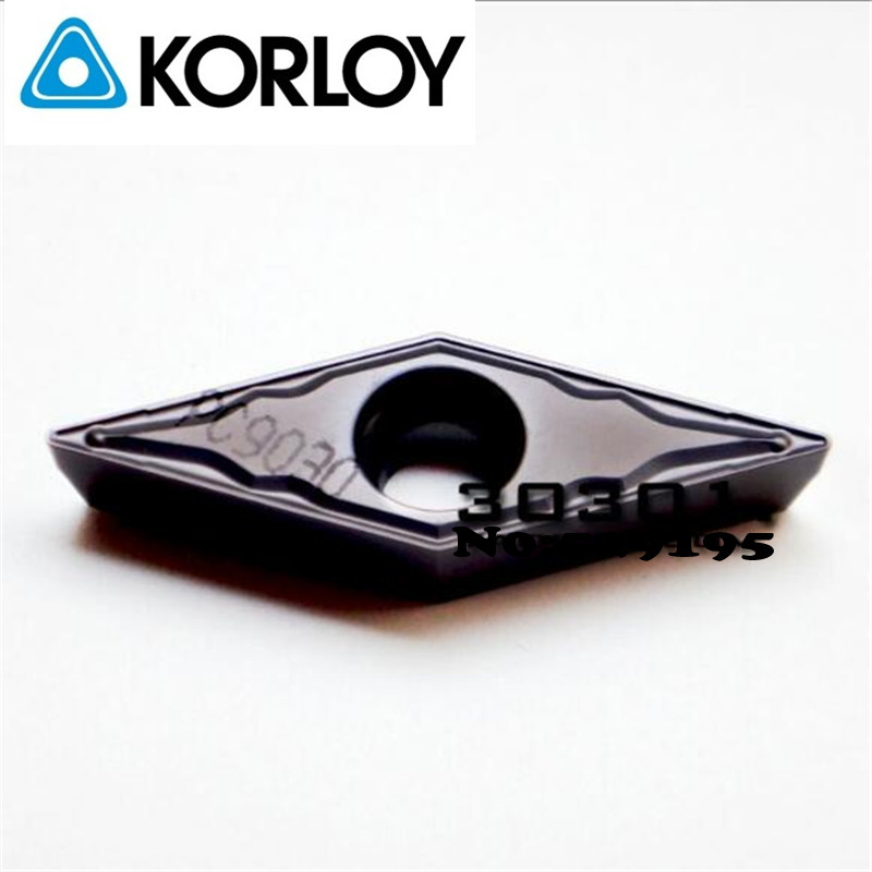 Korloy VBMT160404-HMP PC9030 VBMT160408-HMP PC9030 Original Carbide Inserts <font><b>VBMT</b></font> <font><b>160404</b></font> 160408 for Stainless Steel Lathe Cutter image