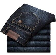 Мужские джинсы свободные брюки-Мужчин Мужская Одежда Повседневная Джинсы Мужчин Бренд Регулярные печатные Джинсы Большого Размера 28-42