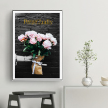 Pink Rose Flower Bouquet Quotes Wall Art Canvas Painting Nordic Posters And Prints Pictures For Living Room Home Decor