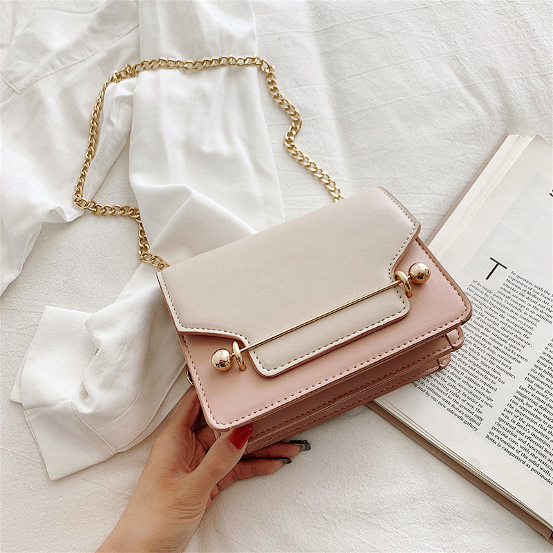 Female Summer New Women Handbags Brand Designer Chains Shoulder Crossbody Bags Panelled Messenger Bags Casual PU Leather 2019Female Summer New Women Handbags Brand Designer Chains Shoulder Crossbody Bags Panelled Messenger Bags Casual PU Leather 2019