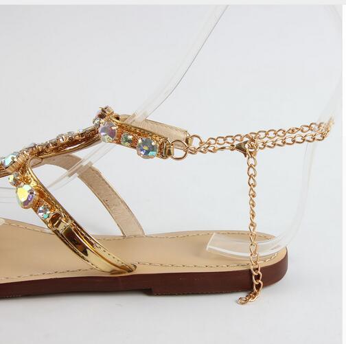 Mujer Feminino Rhinestones Tanga Gladiador As Cadenas Chaussure Photos Sandalias 47 Planas 2017 Zapatos Femme Tenis Ete qdxgwOqC