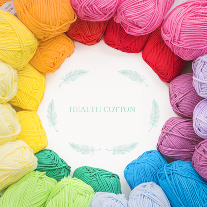 Top Grade New 100g Soft Health Natural Cotton Yarn 8 Strands Thick Yarn For Knitting Baby Wool Crochet Yarn Weave Thread,Z802