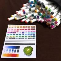 TOUCHFIVE 30 36 40 48 60 72 80 168 Colors Dual Headed Marker Set Animation Manga