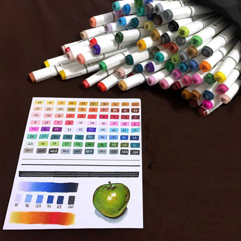 TOUCHFIVE 30/36/40/48/60/72/80/168 Colors Dual Headed Marker Set Animation Manga Design School Drawing Sketch Marker Pen Art Sup touchnew 80 colors artist dual headed marker set animation manga design school drawing sketch marker pen black body