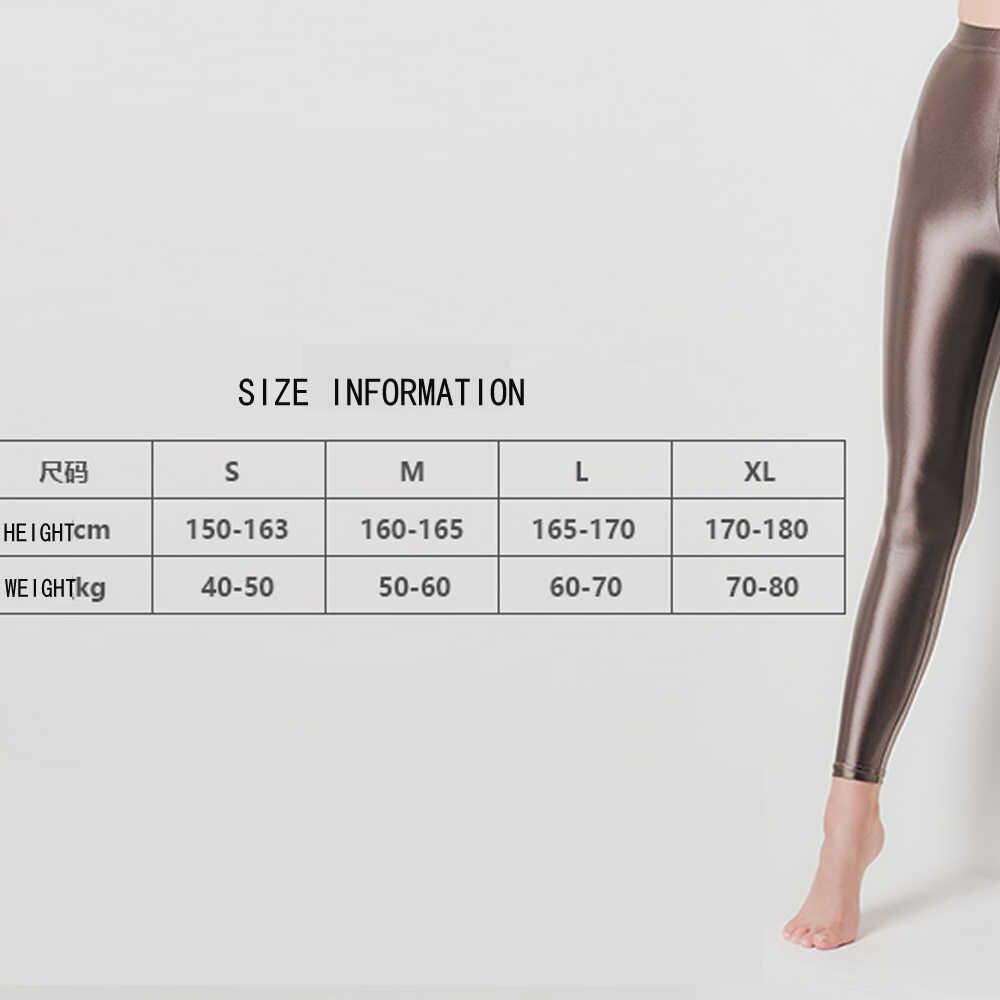 DROZENO Smooth กางเกงเซ็กซี่ผู้หญิง LEOHEX ซาติน GLOSSY ทึบแสง PARTY เงากางเกงถุงน่อง Pantyhose เงาเปียก Tights กางเกง
