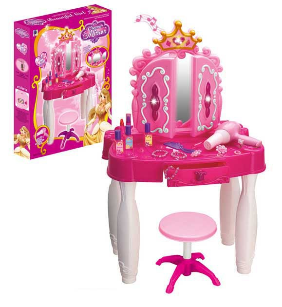 Awesome Free Shipping My Lovely Baby Girl Princess Dresser Portable Dressing Table  Pretent Play Make Up Play