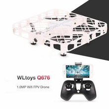 RC Helicopter Q676 1.0MP Wifi FPV Drone Optical Flow Positioning Altitude Hold One Key Automatic Return Gravity Sensor Mode