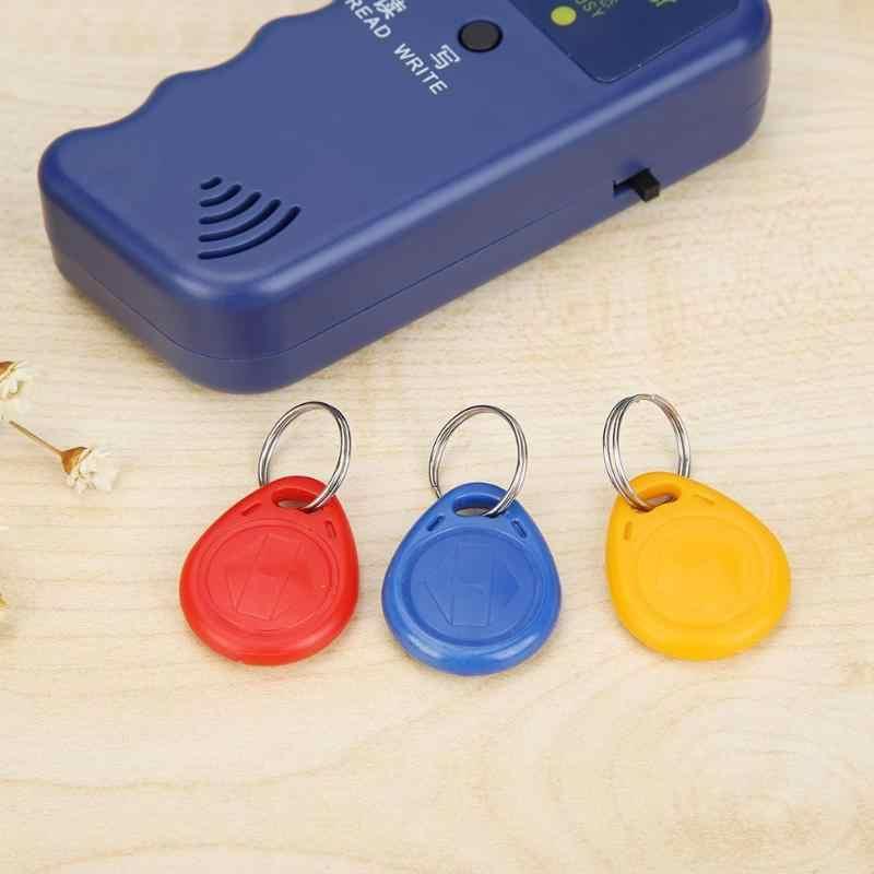 الأسود/الأزرق الناسخ مفتاح يده 125 KHz RFID بطاقة الهوية ناسخة الكاتب قارئ للكتابة EM4305 ID بطاقة HID AWID بطاقة يمكن نسخها