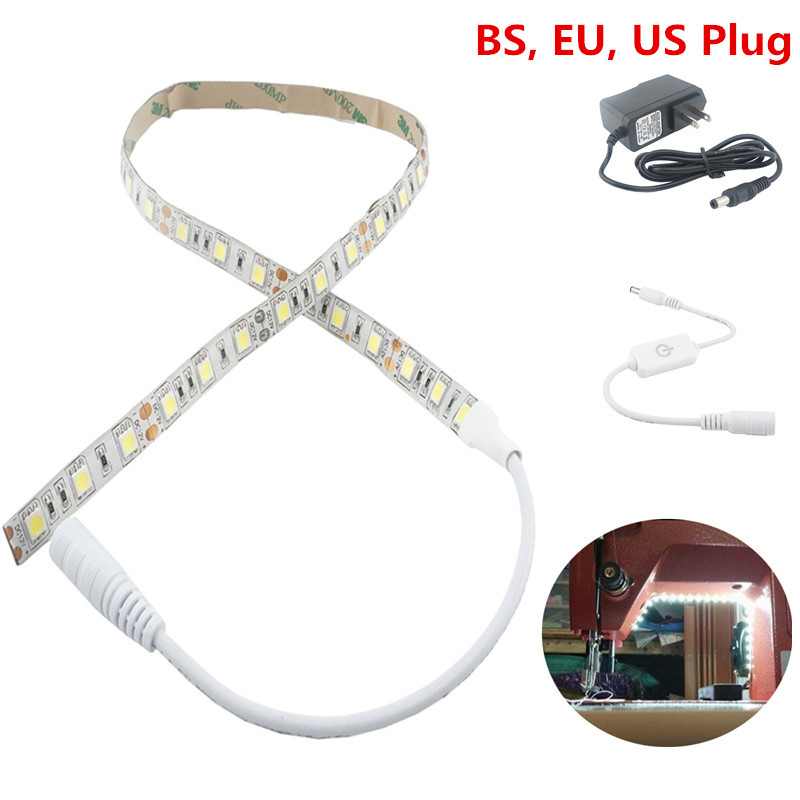 Dimmable LED Sewing Lighting Kit 60cm Sewing Machine Strip Light with DC Connector, Adapter Fit for All Sewing Mahines LightingDimmable LED Sewing Lighting Kit 60cm Sewing Machine Strip Light with DC Connector, Adapter Fit for All Sewing Mahines Lighting