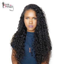 Lace Front Human Hair Wigs For Black Women 250% Density Brazilian Curly Remy Hair Ever Beauty 14-24inch Natural Black