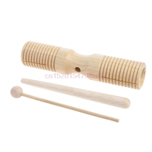 2-tone Guiro Wooden Handle Percussion Toy Woodblock Two Tone Wood Block Beater #H055# two tone heart