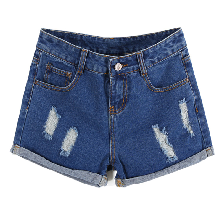 Boyfriend Jeans For Women Promotion High The New Spring And Summer 2016 Denim Shorts Female Korean Loose Code Fat Mm Worn Hole  цены