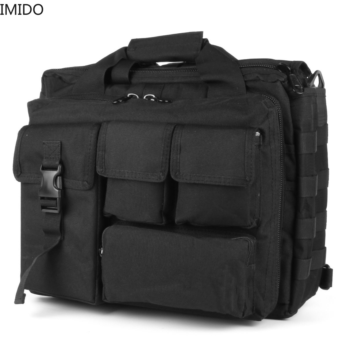 IMIDO Military Shoulder Bag Multifunction Tactical Army Sling Bags Messenger Laptop Handbags Outdoor Climbing Hiking Pouch Pack