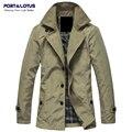 Порт и Лотоса Slim Fit Свет Мужские Куртки Мода Мужская Одежда Одежда Chaquetas Jaqueta Masculina Casaco Hombre Masculino163