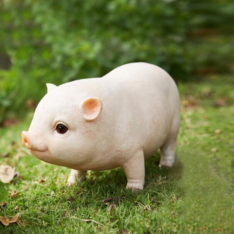 CXZYKING Funny Toy Pig Model Home Decoration Pink Simulation Pig Resin Figure Children Toys funny fishing game family child interactive fun desktop toy