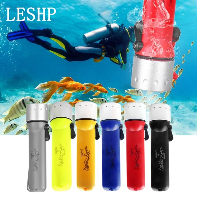Diving Torch LED Outdoor Diving Flashlight Waterproof Underwater Sealed Insulated Glare Lighting 3W 50 Meter Lamp for camping