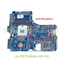 laptop motherboard for HP Probook 440 450 48.4YZ34.011 721523-001 HM76 GMA HD DDR3