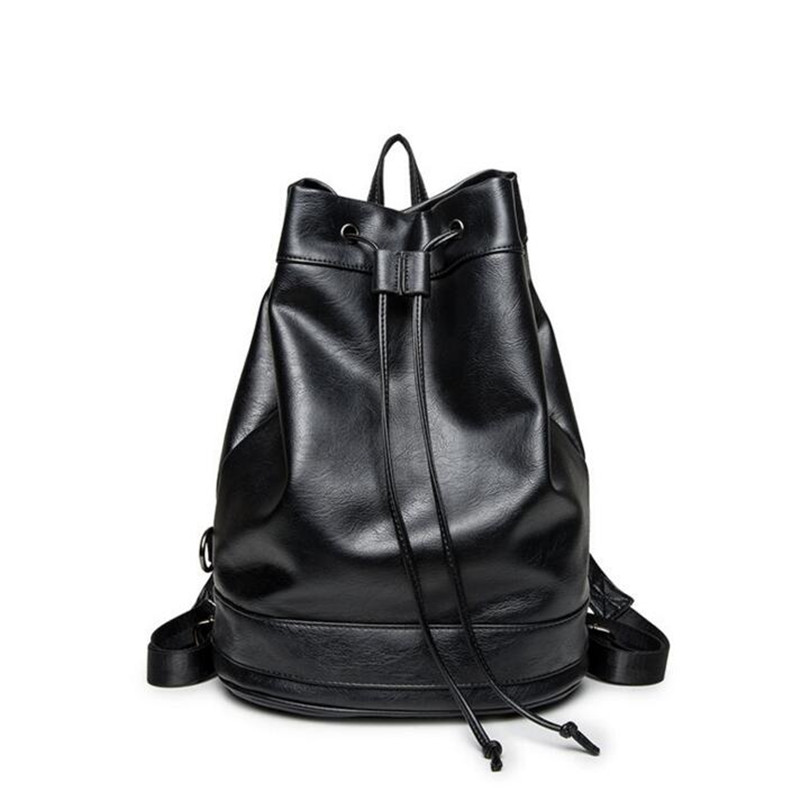 2017 Spring New Style Backpack Travel Shopping Drawstring Bag Student Bag Good Quality Business Casual Leather Backpack kai yunon women sparrow drawstring beam port backpack shopping bag travel bag aug 24