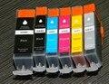 6pcs PGI 525 CLI 526 pgi525 ink cartridge for canon PIXMA MG5350 IP4850 IP4950 IX6550 MG5150 MG5250 MX715 MX885 MX895 printer