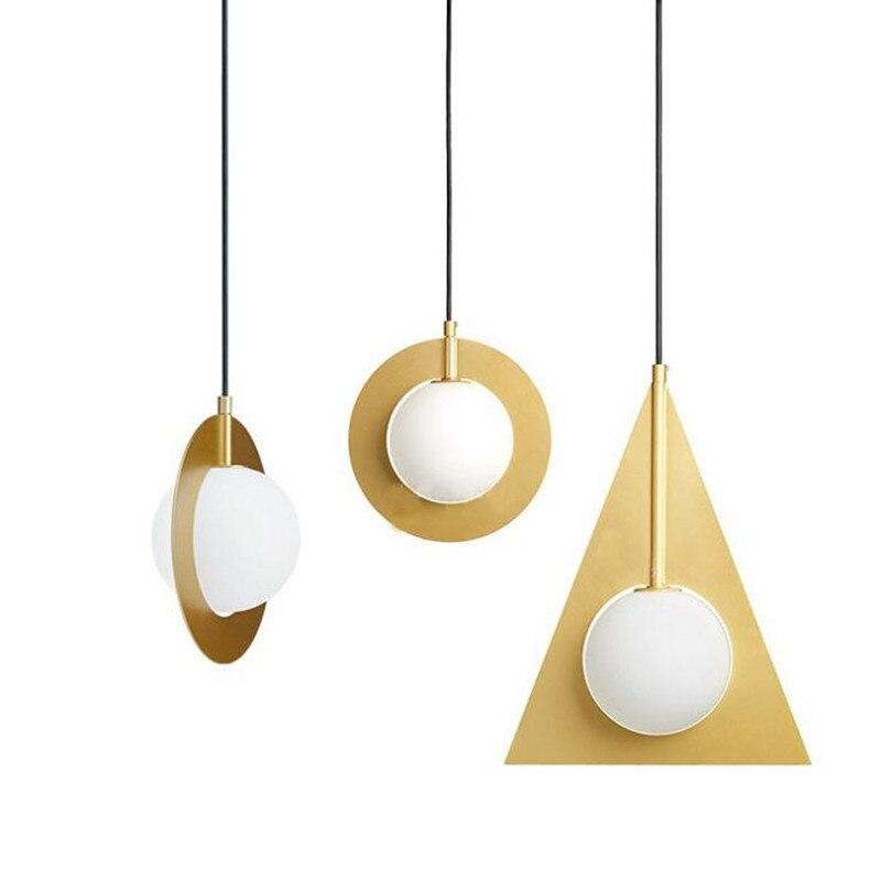 Golden Color LED Pendant Lights Globe Glass Hang Lamp Restaurant Luminaire Pendant Lamp Hanging Light Suspension Kitchen Fixture globe panther golden brown fur