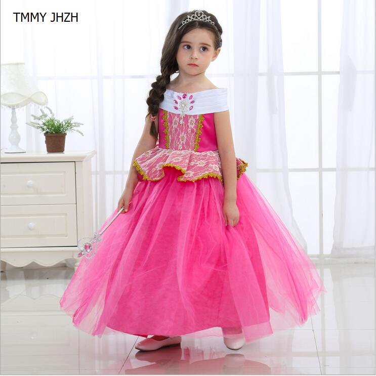 2018 High Quality Girl Dresses Princess Children Clothing  Kid's Party Dress Baby Girls Clothes kids evening gowns