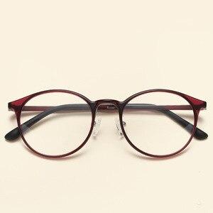 Image 4 - NOSSA جودة التنغستن Ultem إطارات النظارات الرجال والنساء إطارات النظارات البصرية المستديرة خمر خفيفة إطار نظارات شمسية غير رسمية