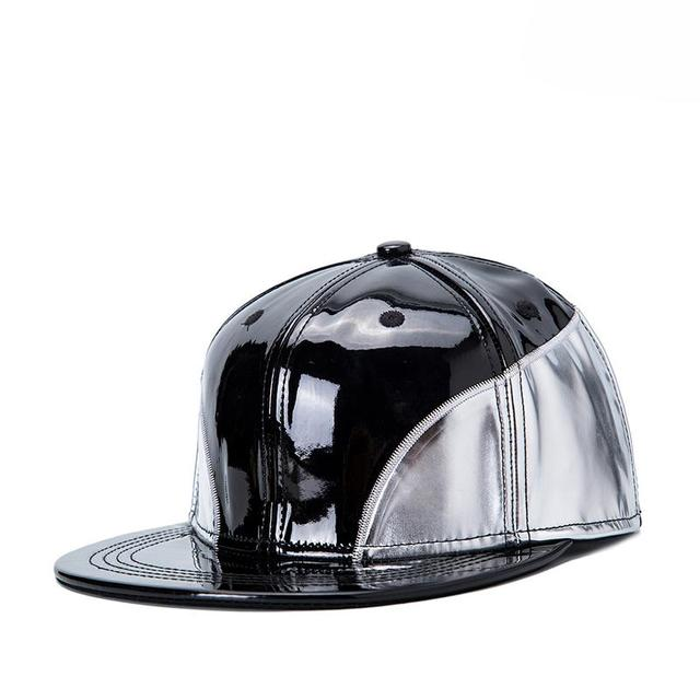 New Artificial PU Leather Baseball Caps Hiphop Hats Men Women Causal Hats Dancing Visors Snapback Strapback Outdoor Sun Topee