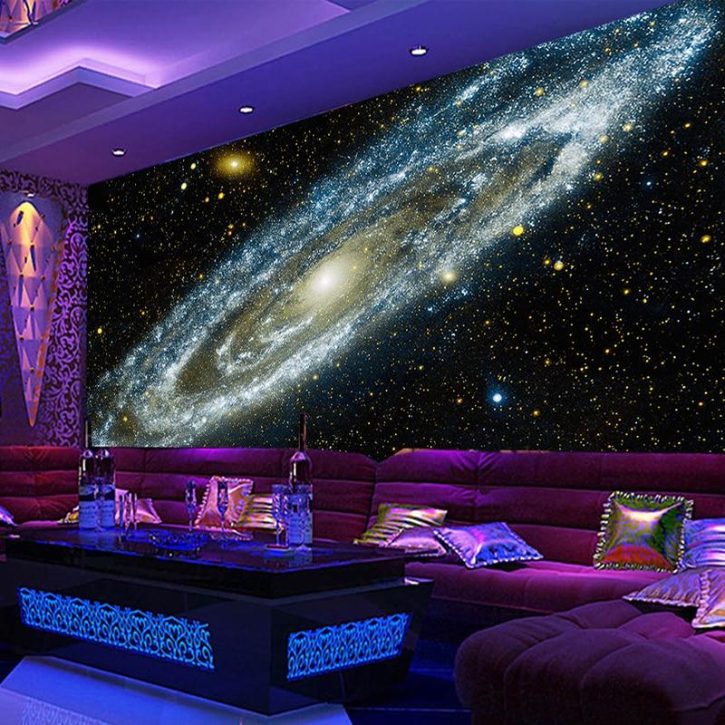 Custom Any Size 3D Wall Mural Wallpaper Galaxy Starry Nebula Ceiling Murals Living Room Sofa Bedroom Backdrop Wallpaper Painting