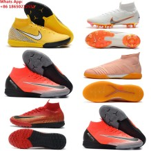 e12693d3b48 Mercuriales Superfly V FG AG CR7 Ronaldo Soccer Cleats High Ankle Neymar JR  Soccer Shoes Magista