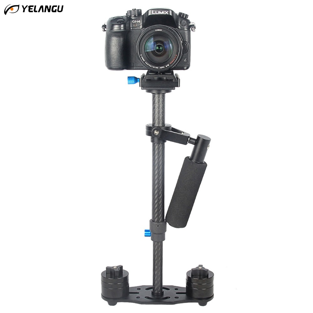 YELANGU S40T Professional Carbon Fiber Handheld Stabilizer Steadicam For Canon DSLR Camera DV Camcorder Sports Camera yelangu s40t professional carbon fiber handheld stabilizer steadicam for canon dslr camera dv camcorder sports camera