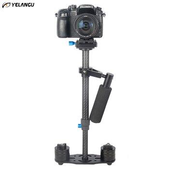 YELANGU S40T Professional Carbon Fiber Handheld Stabilizer Steadicam For Canon DSLR Camera DV Camcorder Sports Camera