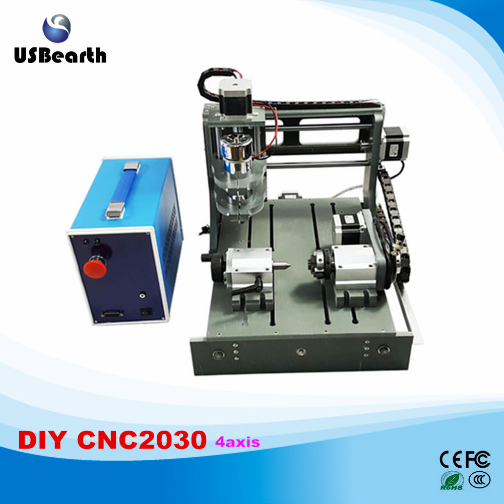 Newest 2 in 1 cnc router 2030 4 axis mini cnc milling machine cnc 5axis a aixs rotary axis t chuck type for cnc router cnc milling machine best quality