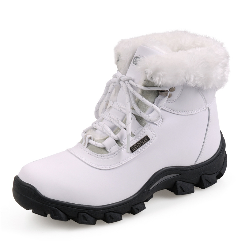 New Winter Women Snow Boots Waterproof Skid Plush Snow Boots Lady Trend Cotton-padded Shoes Thickening Warm outdoor Shoes Woman(China (Mainland))