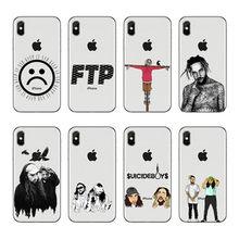 Capa de silicone transparente caso de acessórios de telefone para iphone 6x8 7 5 plus 10 xr xs max caso g59 $ uicideboy $ suideboys ftp