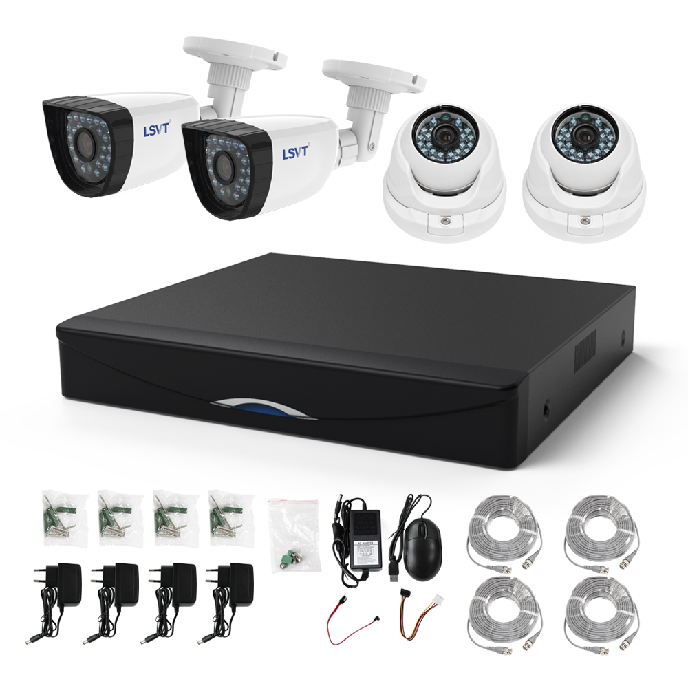 FREECAM 4CH CCTV System 720P HDMI AHD CCTV DVR 4PCS 1.0 MP IR Outdoor Home Security Camera 1200 TVL Camera Surveillance Kit sannce 8ch cctv camera system ahd cctv dvr 8pcs 1mp ir outdoor security camera 720p 1200 tvl camera bullet dome surveillance kit