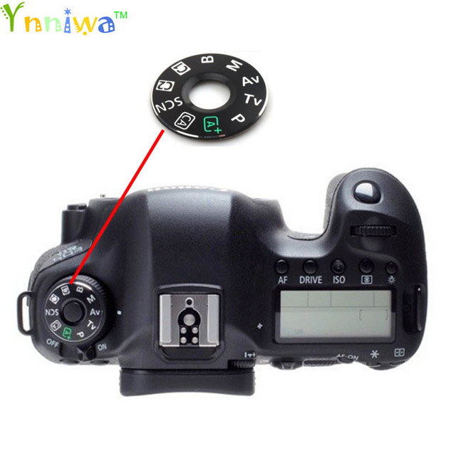 US $3 15 30% OFF For Canon 5D3 60D 70D 6D 7D mode dial pad, turntable  patch, tag plate nameplate Camera repair parts *-in Photo Studio  Accessories
