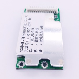 Image 2 - E bike pil 13 S 48 V Li ion Lityum Hücre 15A 18650 Pil Koruma BMS PCB kartı Denge