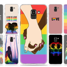 Gay Lesbian LGBT Rainbow Pride Case Cover for Samsung Galaxy J7 J5 J8 J6 J4 J3 J2 Plus Prime 2017 2018 2016 J8+ J6+ J4+ Fundas(China)