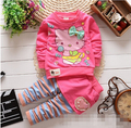 BibiCola 2017 spring autumn baby girls clothing set kids sport suit set children clothing set 2pcs cartoon outfits suit