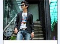 新しい2017メンズファッションビジネスブレザースリムフィットジャケットカジュアルスーツブレザーコートボタンスーツ男