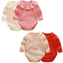 Spring Babygirl Rompers Newborn Baby Clothes For Girls Long Sleeve Babyboy Jumpsuit Toddler Soft Cotton